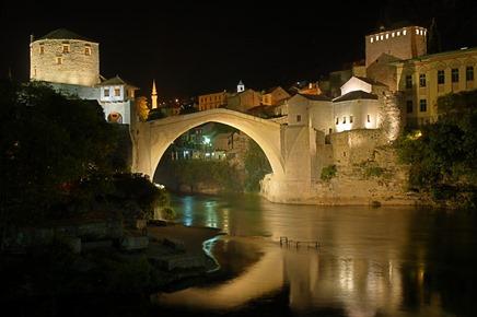 mostar__stari_most_at_night
