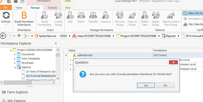 On-the-fly permissions management with SPDocKit | Adis Jugo blog
